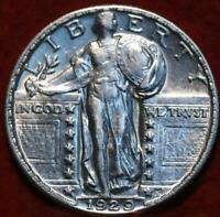 UNCIRCULATED 1929 PHILADELPHIA MINT SILVER STANDING LIBERTY