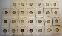 27   MERCURY SILVER DIMES   1930'S & 1940'S   AS SEEN IN P
