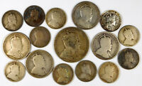CANADA KING EDWARD XII STERLING SILVER COIN LOT   16 COINS