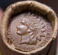 1866 3 CENT NICKEL/1899 INDIAN HEAD ENDS MIXED ANTIQUE ROLL