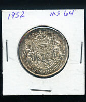 1952 CANADA 50 CENTS  MS63 OR BETTER A641