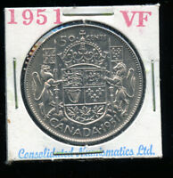 1951 CANADA 50 CENTS  VF A643