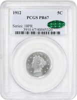 1912 5C PCGS/CAC PR 67 - LIBERTY V NICKEL