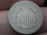 1868 SHIELD NICKEL 5 CENT PIECE- LOWBALL, HEAVILY WORN, PO1 CANDIDATE?