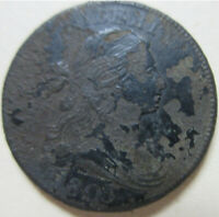 1803 U.S. DRAPED BUST LARGE CENT COIN. BETTER GRADE C379