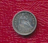 1853 SEATED LIBERTY SILVER HALF DIME ARROWS CIRCULATED SHOWS FULL LIBERTY