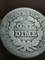 1850 P SEATED LIBERTY SILVER DIME- GOOD DETAILS