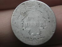 1887 SEATED LIBERTY SILVER DIME- LOWBALL, HEAVILY WORN
