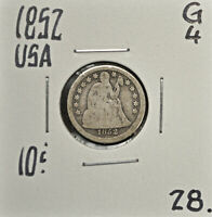 1852 UNITED STATES 10 CENTS G-4