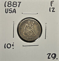 1887 UNITED STATES 10 CENTS F-12