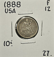 1888 UNITED STATES 10 CENTS F-12