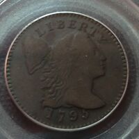 1795 LETTERED EDGE  PCGS  VF-20   LIBERTY CAP LARGE CENT   ONLY 37K MINTED