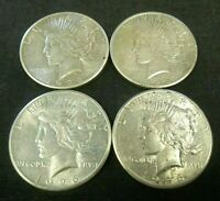 DEALER LOT 4 1926 AU PEACE SILVER DOLLARS     7684
