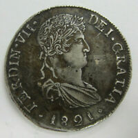 1821 SPANISH SILVER 8 REALES MEXICO FERDINAND VII