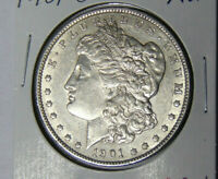 AU 1901-O MORGAN SILVER DOLLAR ABOUT UNCIRCULATED NEW ORLEANS MINT 71619
