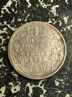 1888 INDIA 1 RUPEE LOTL5969 SILVER  CLEANED