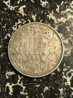 1889 INDIA 1 RUPEE LOTL5970 SILVER  OLD CLEANING