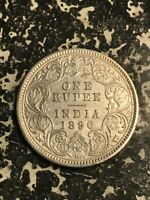 1890 INDIA 1 RUPEE LOTL5972 SILVER  OLD CLEANING