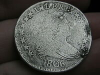 1806 DRAPED BUST HALF DOLLAR- POINTED 6, STEM THROUGH CLAW