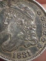 1831 CAPPED BUST HALF DIME- EXTRA FINE  DETAILS