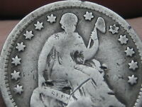 1857 P SEATED LIBERTY HALF DIME