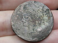 1851 BRAIDED HAIR LARGE CENT PENNY, METAL DETECTOR FIND?