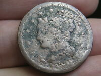 1843-1857 BRAIDED HAIR LARGE CENT PENNY- MATURE HEAD, LARGE LETTERS