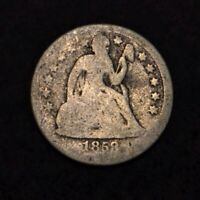 1858 10C SEATED LIBERTY DIME SILVER - GREAT FILLER COIN