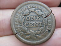 1851 BRAIDED HAIR LARGE CENT PENNY- VG DETAILS