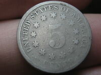 1883 SHIELD NICKEL 5 CENT PIECE-  DATE