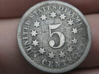 1868 SHIELD NICKEL 5 CENT PIECE- FS-901, REVERSE OF 1868, BROKEN C