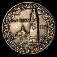 1935 50C COMMEMORATIVE SAN DIEGO CALIFORNIA EXPOSITION HALF DOLLAR SILVER COIN