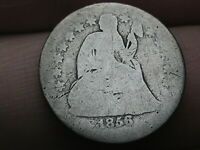 1856 O SEATED LIBERTY SILVER DIME- GOOD DETAILS