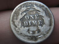1877 S SEATED LIBERTY DIME- VG/ GOOD DETAILS-  DATE