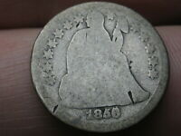 1856 O SEATED LIBERTY SILVER DIME- RPD, REPUNCHED DATE, FS-10-1856O-2301