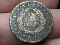 1864-1872 TWO 2 CENT PIECE- CIVIL WAR TYPE COIN- METAL DETECTOR FIND?