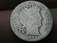 1909 O SILVER BARBER DIME- LOWBALL, HEAVILY WORN