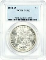 1882-O $1 PCGS MINT STATE 62 - MORGAN SILVER DOLLAR