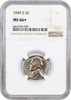 1949-S 5C NGC MINT STATE 66 - JEFFERSON NICKEL