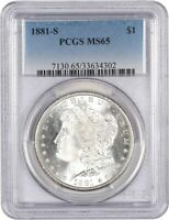 1881-S $1 PCGS MINT STATE 65 - MORGAN SILVER DOLLAR