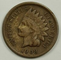 1908-S INDIAN HEAD CENT.  V.F.  138441