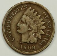 1909-S INDIAN HEAD CENT.  FINE.  138334