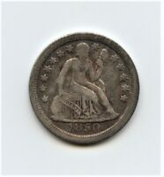 DATE 1850-O SEATED LIBERTY DIME WITH VF DETAILS  ORIGINAL SURFACES
