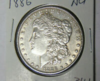 AU 1886 MORGAN SILVER DOLLAR ABOUT UNCIRCULATED PHILADELPHIA MINT 71819