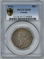 CANADA 1912 50 CENTS PCGS EF45