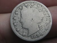 1898 LIBERTY HEAD V NICKEL- GOOD DETAILS - FULL DATE