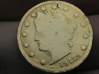 1912-D LIBERTY HEAD V NICKEL- GOOD DETAILS, GOLD PLATED