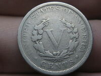 1901 LIBERTY HEAD V NICKEL- VG/FINE DETAILS, FULL RIMS