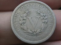 1909 LIBERTY HEAD V NICKEL- VG/FINE DETAILS, FULL RIMS