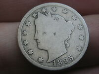 1895 LIBERTY HEAD V NICKEL 5 CENT PIECE- GOOD DETAILS, FULL DATE